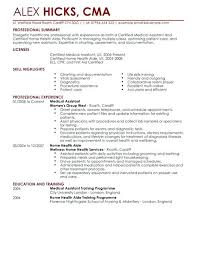 home health care resume skills healthcare examples templates full