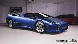 car lamborghini blue lamborghini diablo vt in satin blue phenomenalvinyl