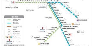 san jose light rail map san jose map maps san jose california usa