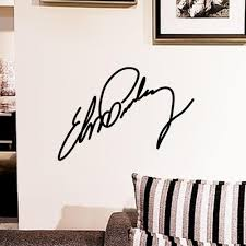 elvis presley small sign signature home decor vinyl wall sticker