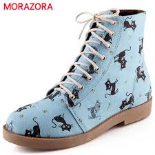womens boots geelong morazora animation arrive cat lace up autumn winter