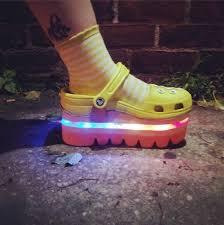 rainbow light up shoes degen nyc degen x crocs rainbow light up shoes vivaladiy