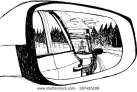 vector illustration traffic car mirror hand stock vector 387485188