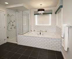 subway tile ideas for bathroom surprising bathroom subway tile grey grout white gray half wall