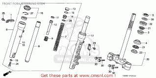 honda sfx honda sfx50 1995 s spain front fork steering stem schematic