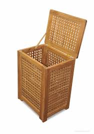 teak hamper great for bathrooms exercise clubs pools etc
