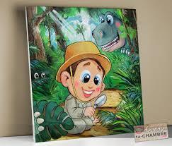 chambre dinosaure tableaux deco chambre dinosaure pour garçon vente tableau enfant et