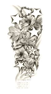 flowers leg sleeve tattoo design real photo pictures images and
