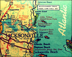 Map Destin Florida by Vintage Map Jacksonville Retro Florida Photograph Print 8x10