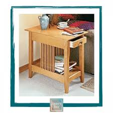 Craftsman Style Computer Desk Craftsman Style End Table Kit Abbey Bay Llc