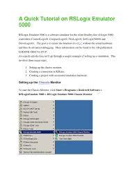 a quick tutorial on rslogix emulator 5000 emulator device driver