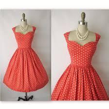 50 u0027s garden party dress vintage 1950 u0027s coral floral print