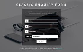 classic enquiry form a flat responsive widget template