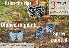 3 ways to paint pinecones help me