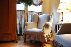 wonderful wing back chair slip cover design ideas and decor