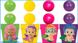 nickelodeon bubble guppies learn colors coloring page fun ball