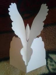 diy paper dove with a printable template mashustic paper
