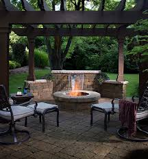 Fire Pits San Diego by Fire Pit Paver Patio San Diego Cozy Room Pergolas And Waterfall