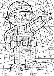 25 dessins de coloriage magique addition à imprimer