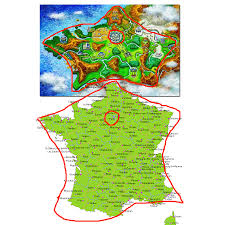 France Region Map by