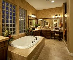 interior cool bathroom designs with oval soaking bathtub in