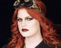 i am very excited to ashley of hollywood noir makeup wearing a steunk inspired gold and brown smokey eye