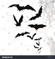 halloween background full moon bats stock vector 158694716
