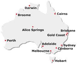 australia map capital cities australia travel guide tourist information city maps for