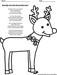 holiday rudolph coloring dancing reindeer reindeer footprint
