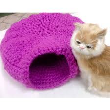 Cat Bed Pattern Mary Maxim Free Cat Cave Pattern