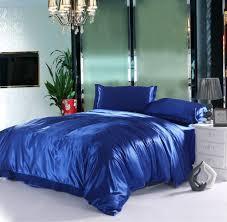 Full Size Bed Sheet Sets Home Textile Satin Silk Sapphire Bed Sheet Set Solid Bedding Set 3