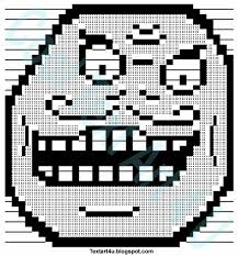 I Lied Meme Face - i lied meme face ascii text art cool ascii text art 4 u