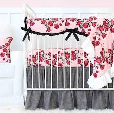 Pink And Gray Crib Bedding Sets Baby Crib Bedding Caden