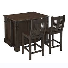 home styles 5029 948 prairie home kitchen island and two stools in