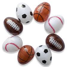 sports easter eggs set of 8 assorted sport plastic easter eggs soccer football