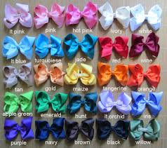 diy baby hair bows 25 pieces 4 inch boutique hair bows 25 colors to hair bows
