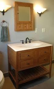 Apron Sink Bathroom Vanity by Cherry Shaker Bathroom Vanity Balfour Remodel Pinterest