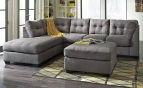 Microfiber Sectional Couch With Chaise Living Room Comfortable Charcoal Sectional For Elegant Living