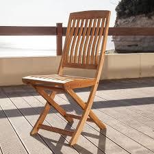 chaise jardin bois chaise de jardin rias pliante en teck maison facile maison