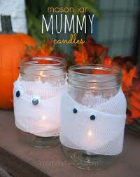 diy halloween decor spooky halloween mason jar mummy candles