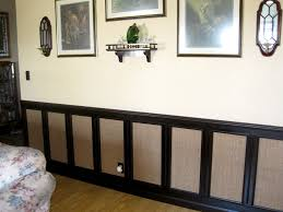 cat scratching wall made to look like wainscoting i used