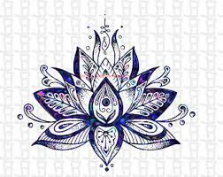 lotus flower clipart etsy