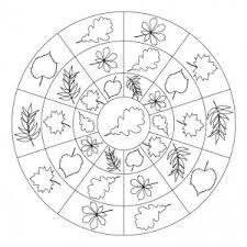 autumn mandala coloring page for crafts and worksheets for
