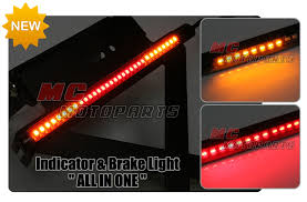 stop sign with led lights tail brake signal function 5050 led strip bar winker fit