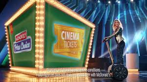 mcdonalds uk monopoly commercial actress mcdonald s monopoly prize choice youtube
