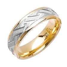 wedding ring depot 18k two tone gold wicker braid band 6mm 3001930 shop at wedding