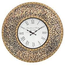 Decorative Wall Clock Decorshore 23 Inch Decorative Glass Mosaic Silent Oversized Wall