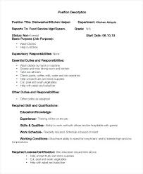 Sample Resume For Kitchen Helper Dishwasher Sample Resume U2013 Topshoppingnetwork Com