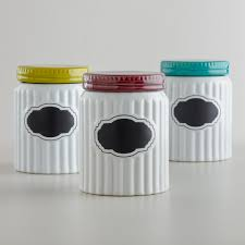 fresh ceramic canisters red 5955