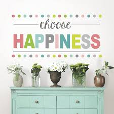 amazon com wall pops wpe1178 choose happiness quote decal 9 75in amazon com wall pops wpe1178 choose happiness quote decal 9 75in x 17 25in two sheets home improvement